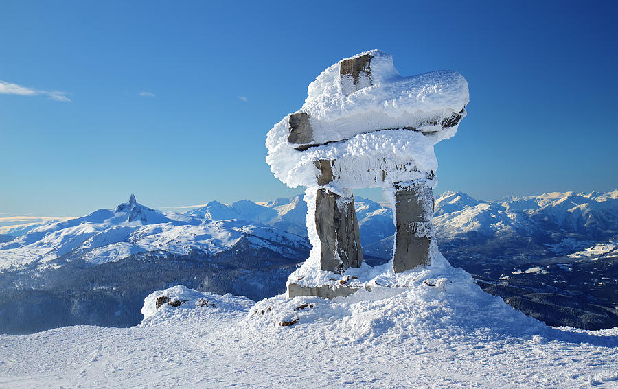 whistler mountain inukshuk photograph by pierre leclerc