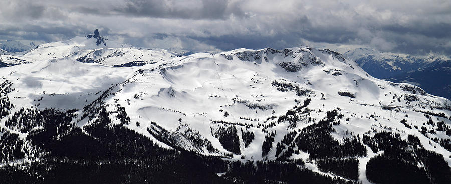 Whistler Mountain View From Blackcomb Photograph