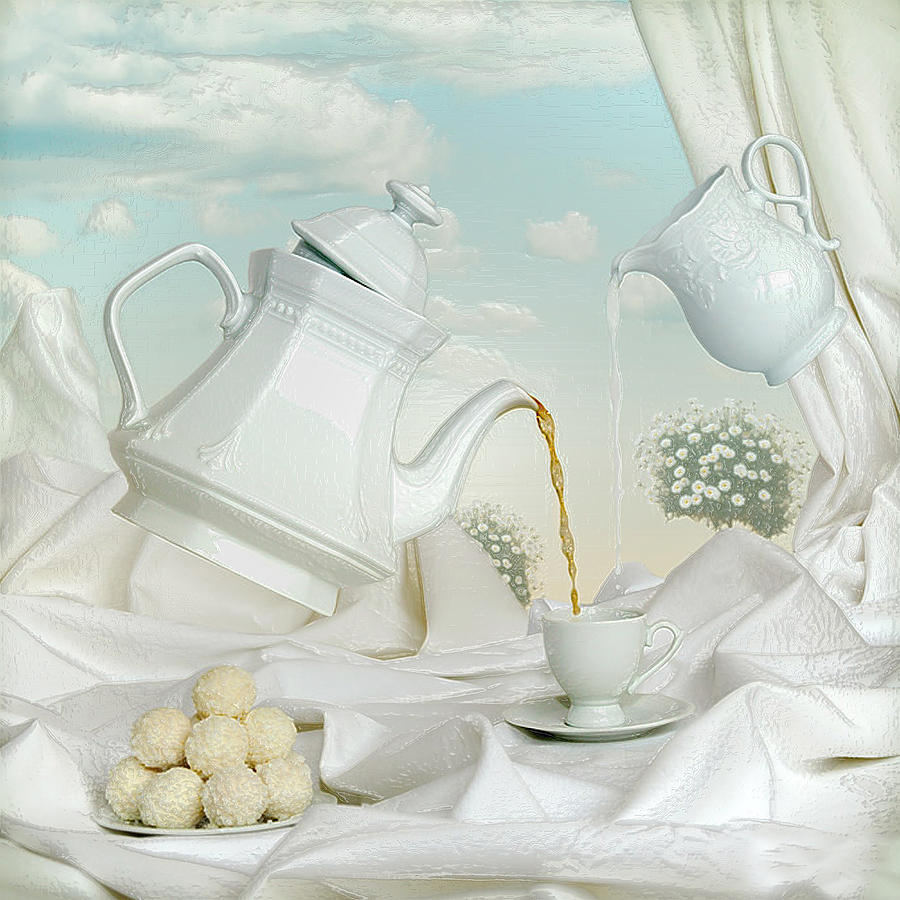 3d Modern White Abstraction Still Life