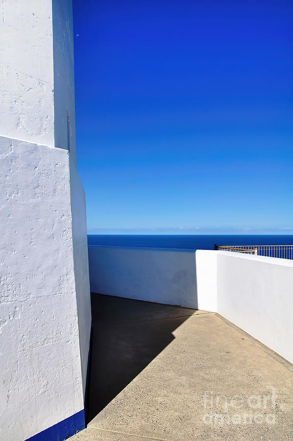 White And Blue To Ocean View Photograph