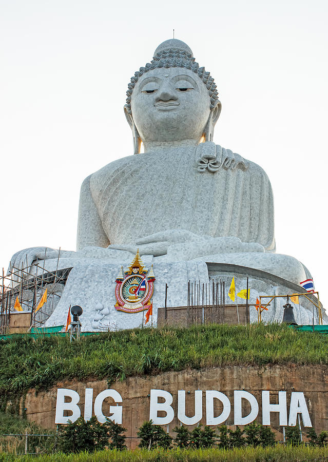 white big Buddha Photograph