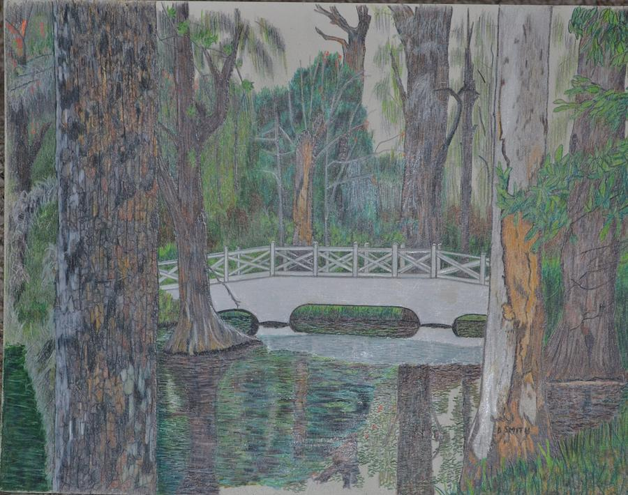 White Bridge Drawing  - White Bridge Fine Art Print