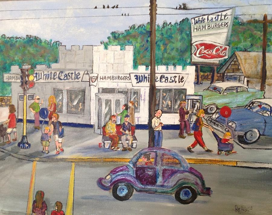 White Castle On Lake  1967 Painting