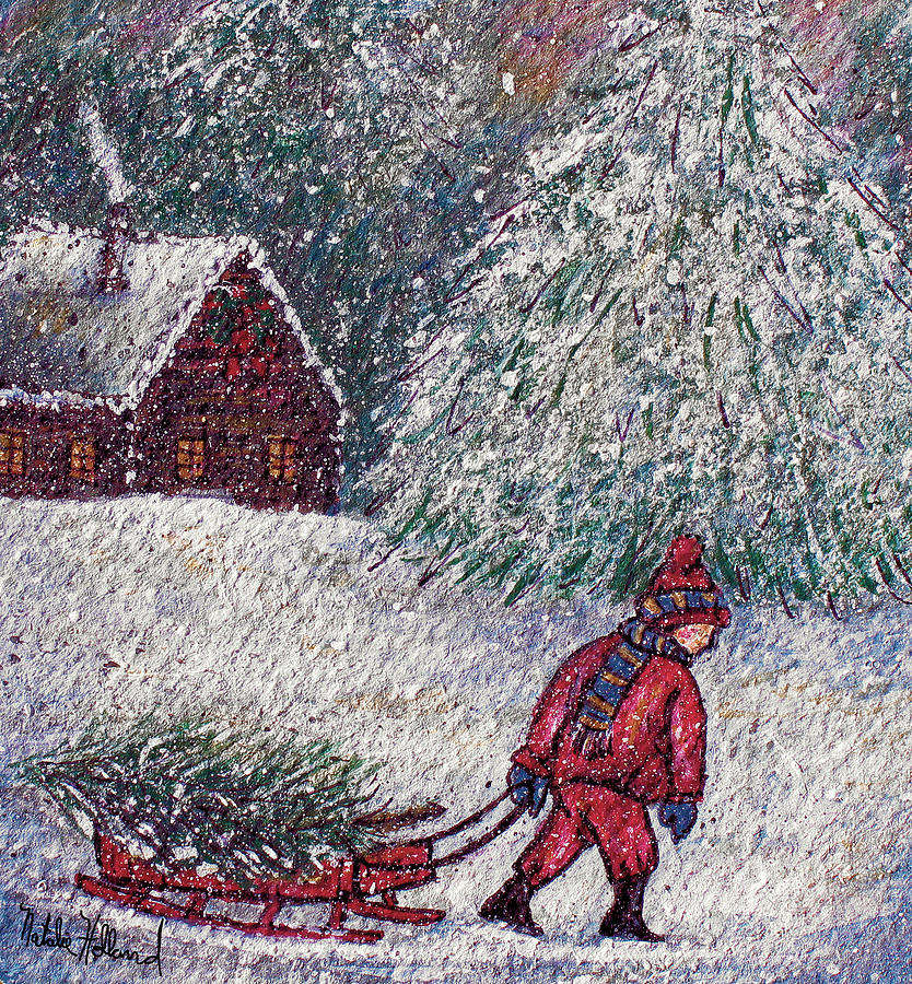 White Christmas Painting