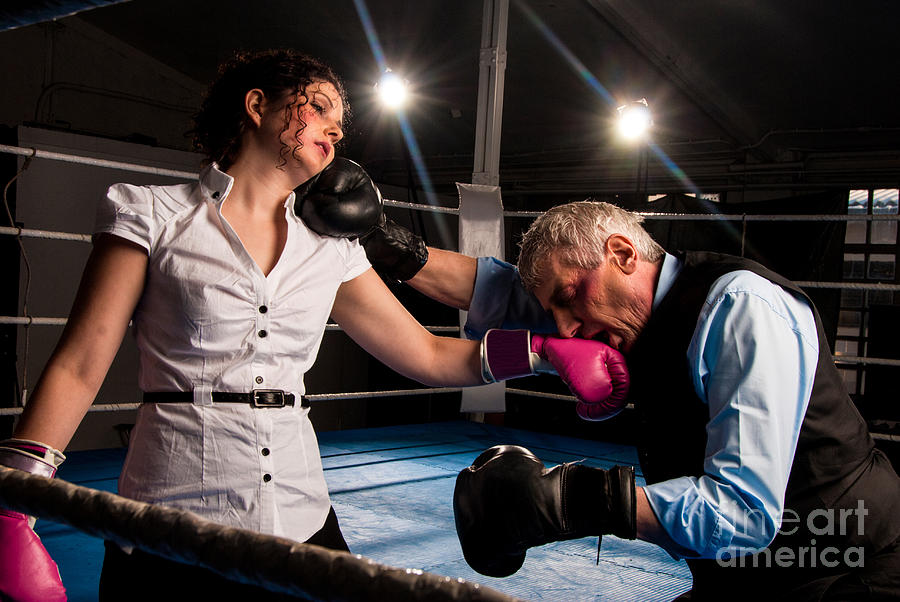 White Collar Boxing Photograph