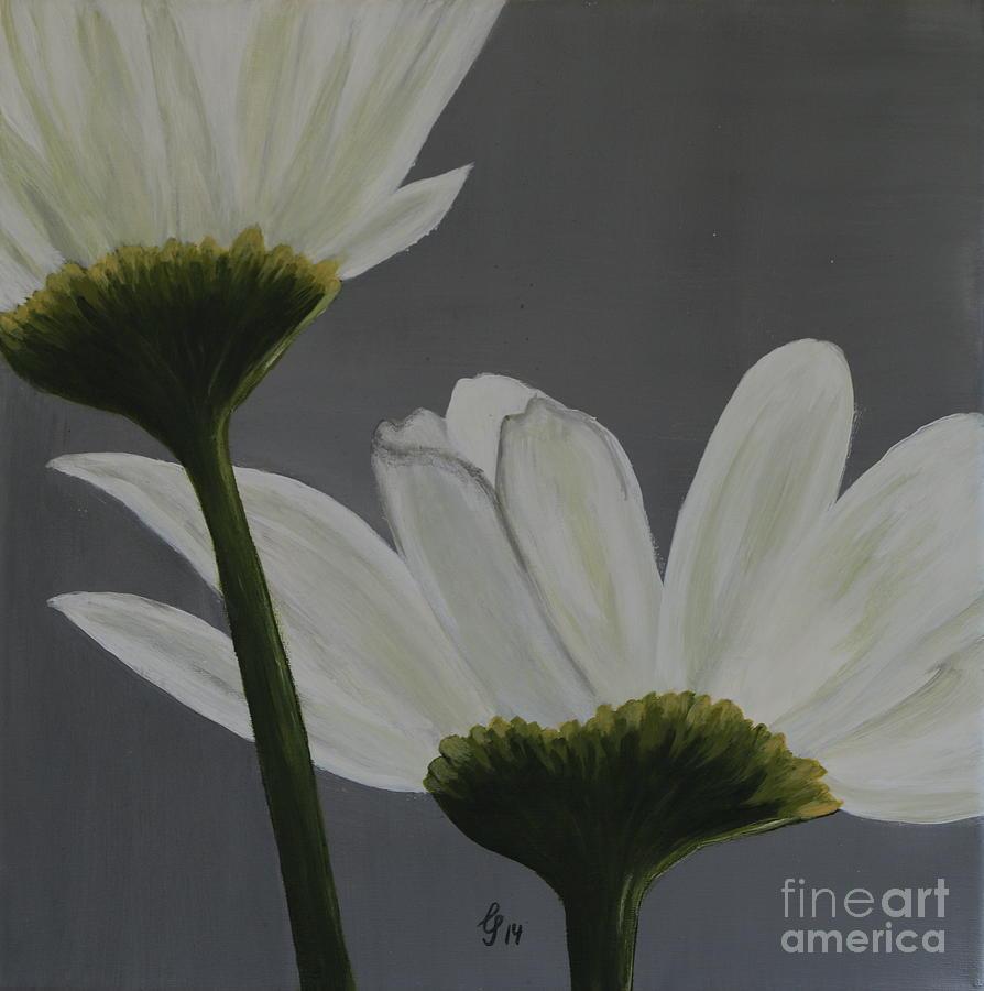 White Cosmos Painting