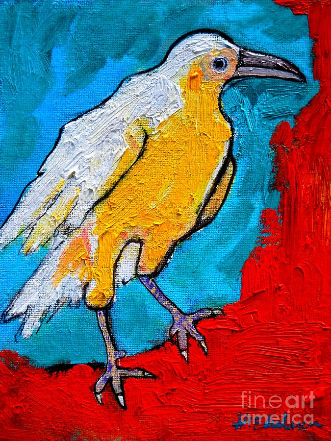 White Crow Painting