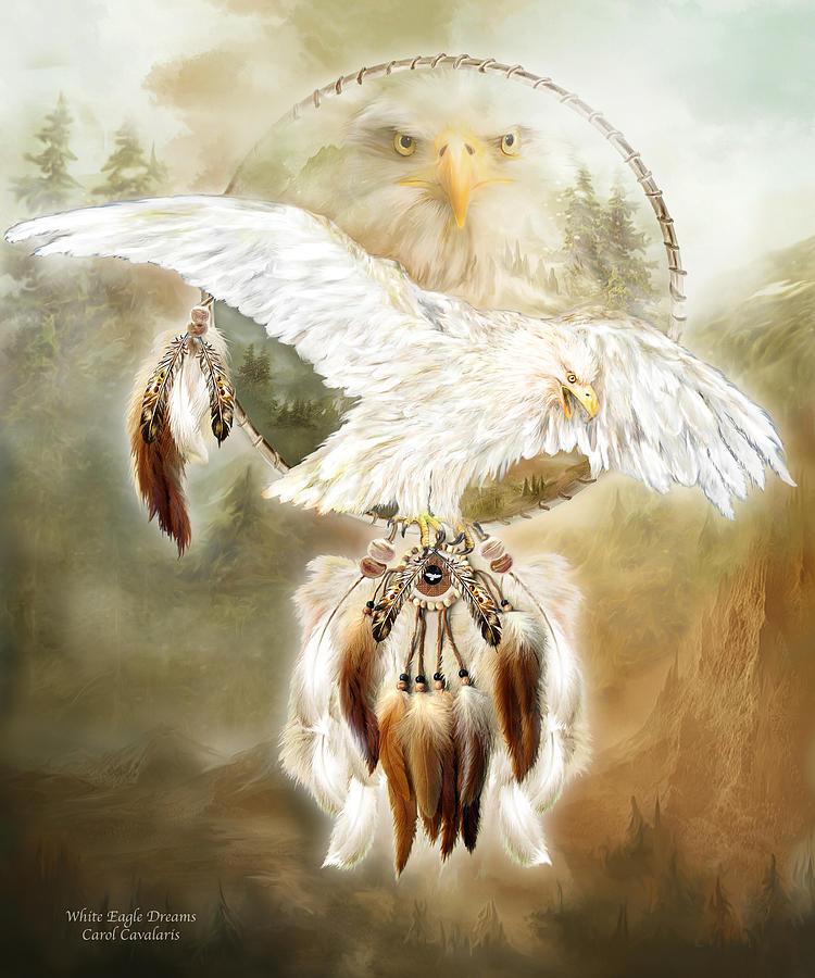 White Eagle Dreams Mixed Media
