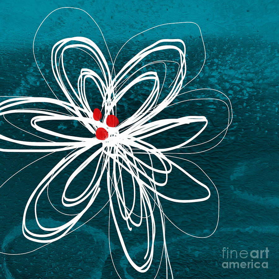 White Flower Painting  - White Flower Fine Art Print