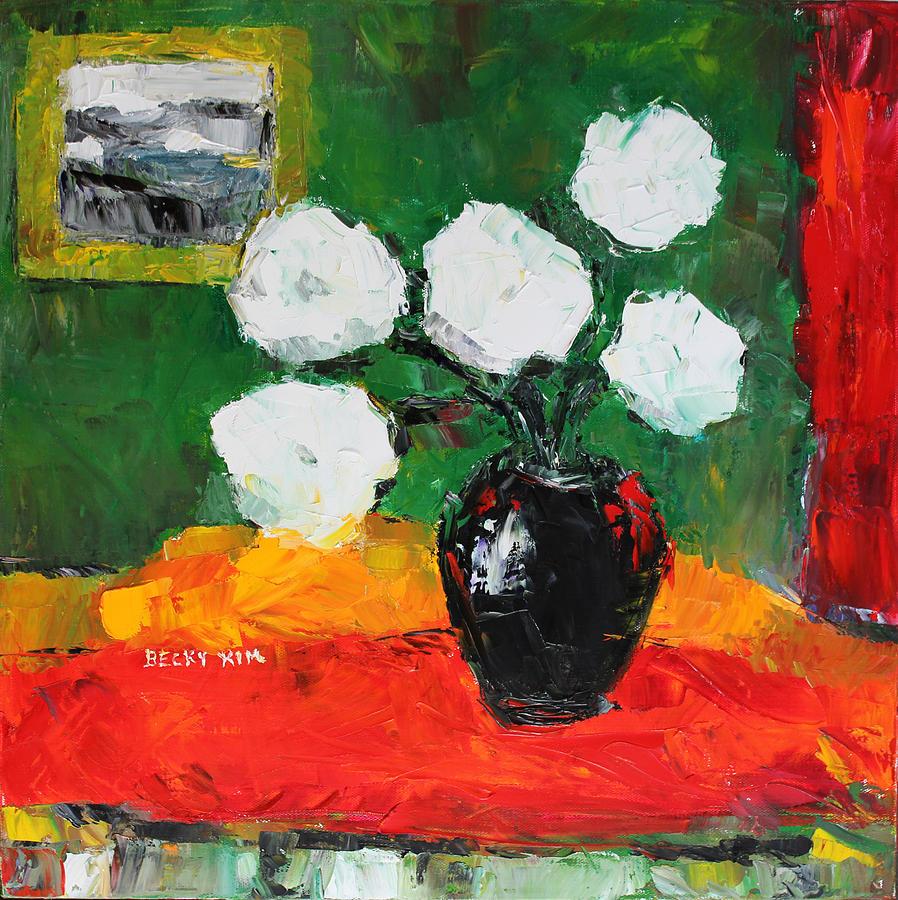 White Flowers In Hangahri Painting