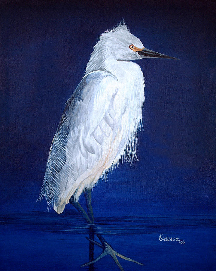 White heron by odessa kelley for White heron paint