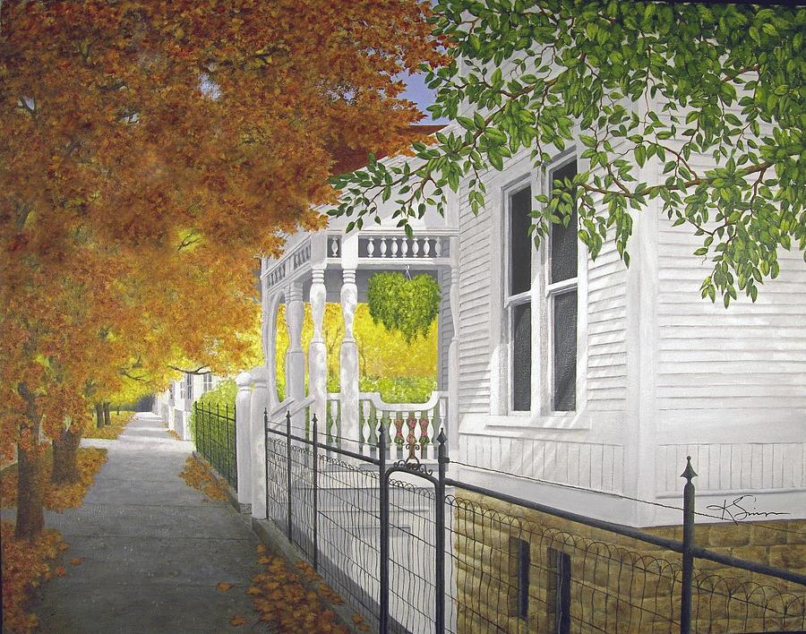 White House Eureka Springs Arkansas Painting