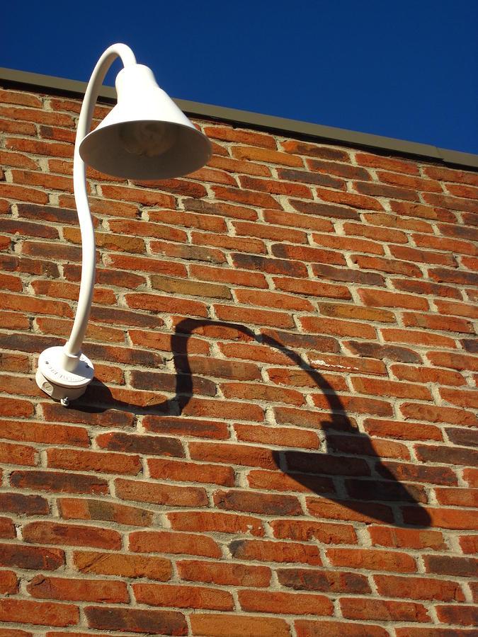 White Lamp With A Dark Secret Photograph