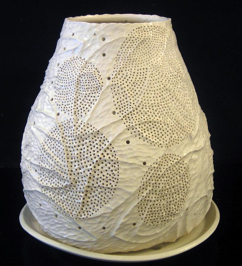 White Luminary No 3 Ceramic Art 