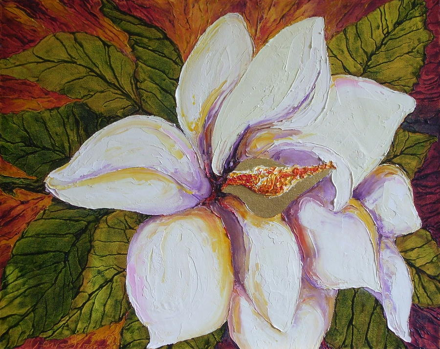 White Magnolia Painting