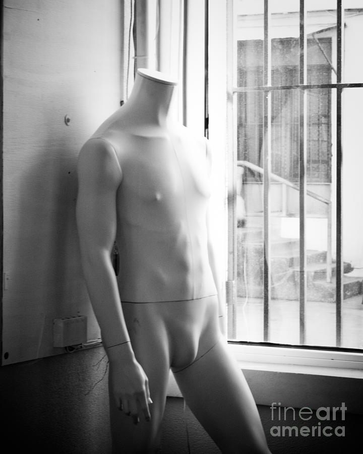 Mannequin Photograph - White Mannequin by Sonja Quintero