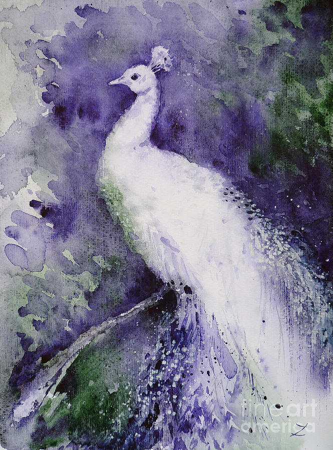 White Peacock is a painting by Zaira Dzhaubaeva which was uploaded on ...