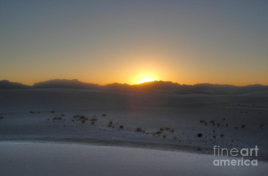 White Sands New Mexico Sunset Photograph