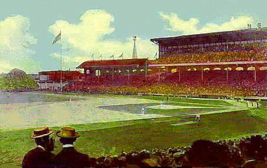 White Sox Ball Park In Chicago Il Around 1915 Painting  - White Sox Ball Park In Chicago Il Around 1915 Fine Art Print