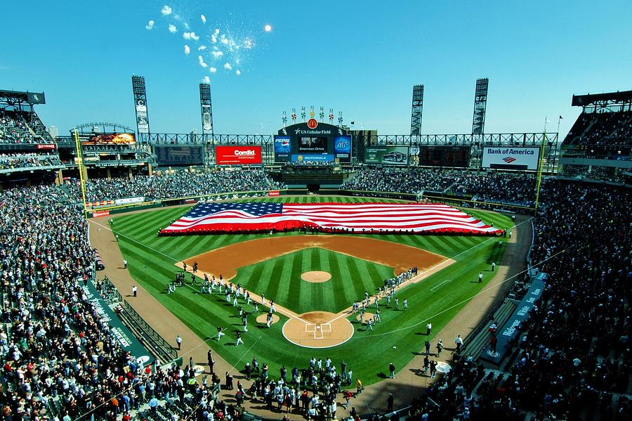 Chicago White Sox Photograph - White Sox Opening Day by Benjamin Yeager