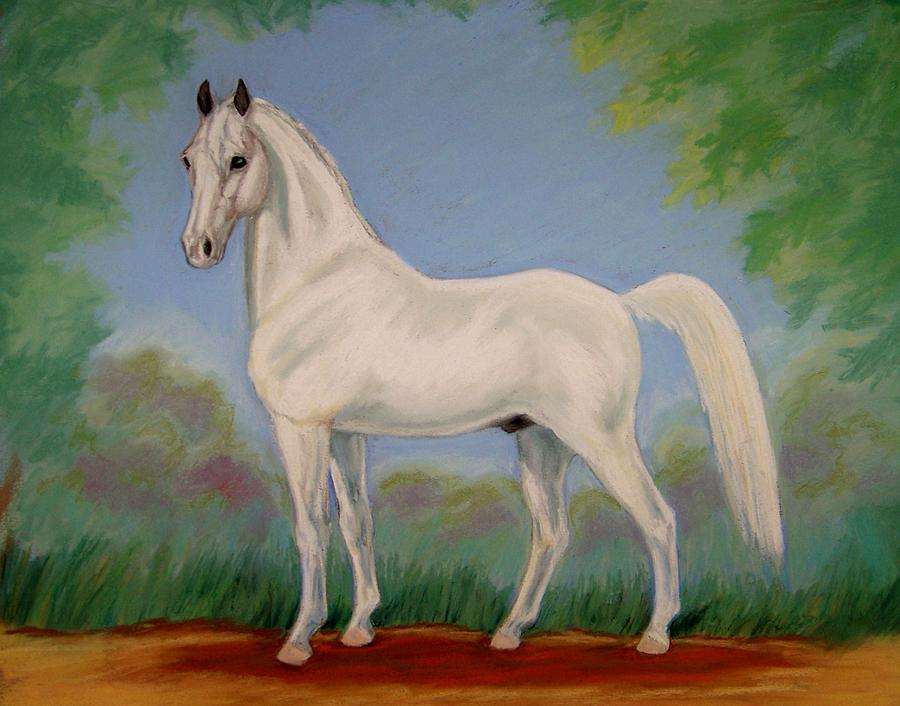 White Spirit Horse Painting  - White Spirit Horse Fine Art Print
