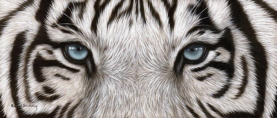 White Tiger Eyes Paintings Tiger Eyes Black And White