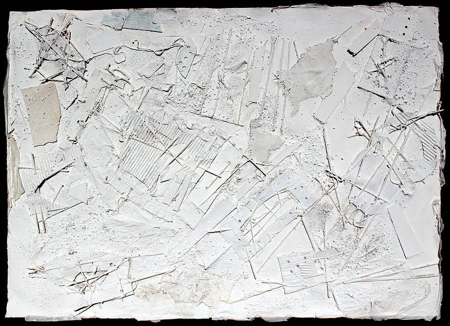 Abstract Painting Painting - White Web Collage 6 by Hari Thomas