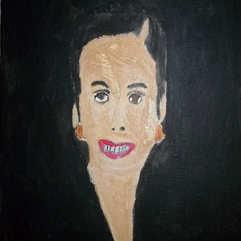 White Woman In The 50s Painting