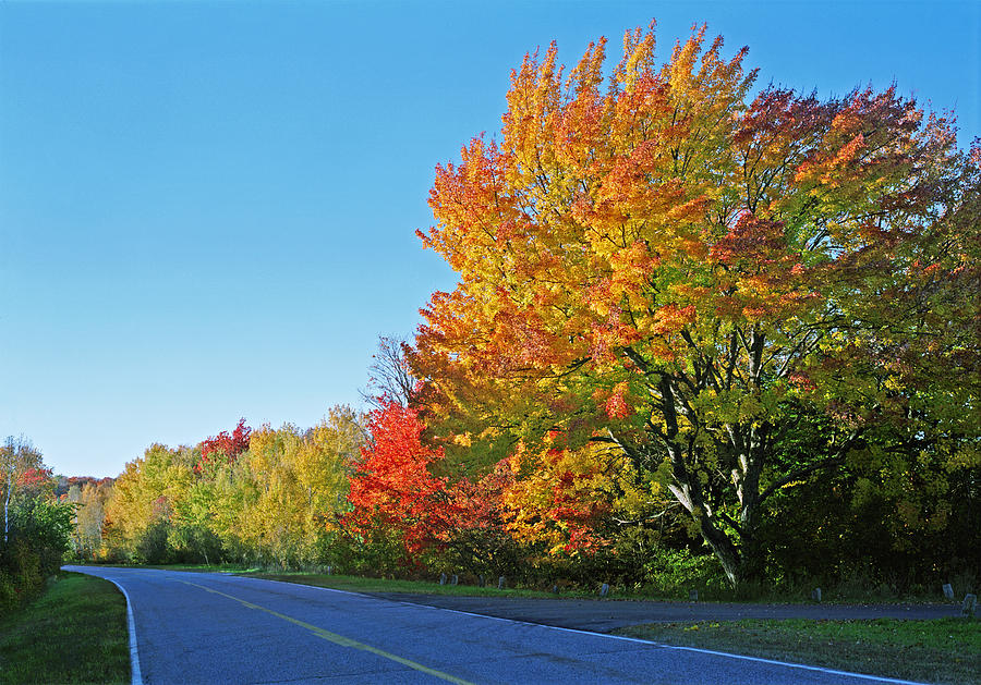 Whitfish Bay Scenic Byway Photograph - Whitefish Bay Scenic Byway by James Rasmusson