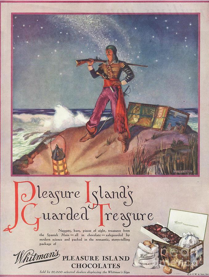 Whitman�s 1940s Uk Pirates Chocolate Drawing