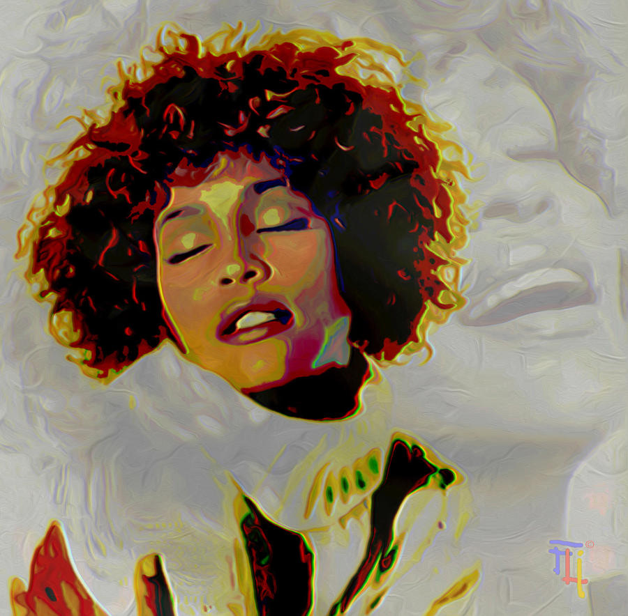 Whitney Houston Painting  - Whitney Houston Fine Art Print