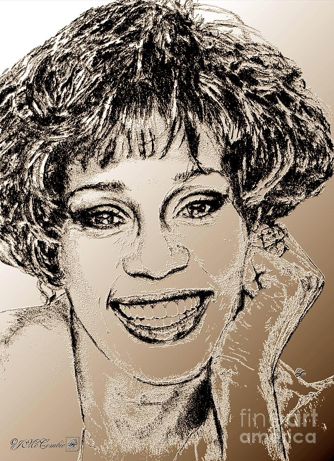 Whitney Houston In 1992 Digital Art  - Whitney Houston In 1992 Fine Art Print