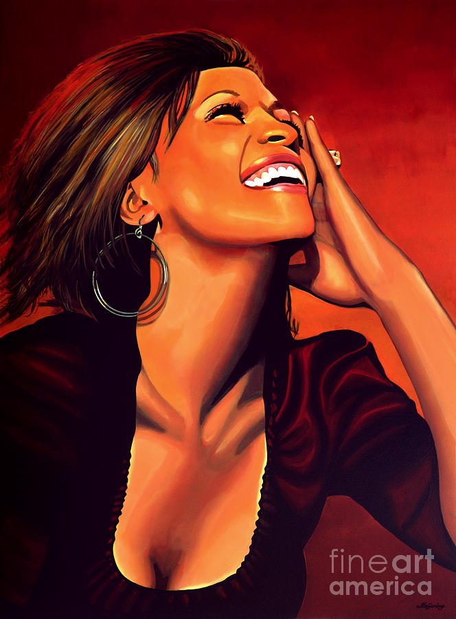 Whitney Houston Painting