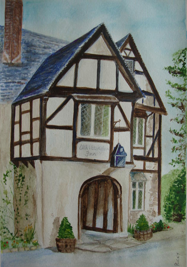 Whittington Inn Painting  - Whittington Inn Fine Art Print
