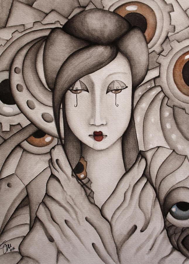 Geisha Painting - Who Am I by Simona  Mereu