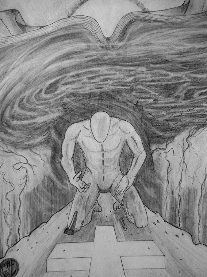 Justin Moore Drawing - Whom Shall I Fear Part 1 by Justin Moore