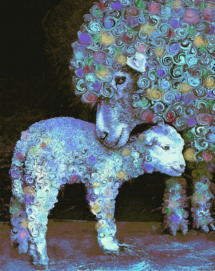 Whose Little Lamb Are You? Digital Art  - Whose Little Lamb Are You? Fine Art Print