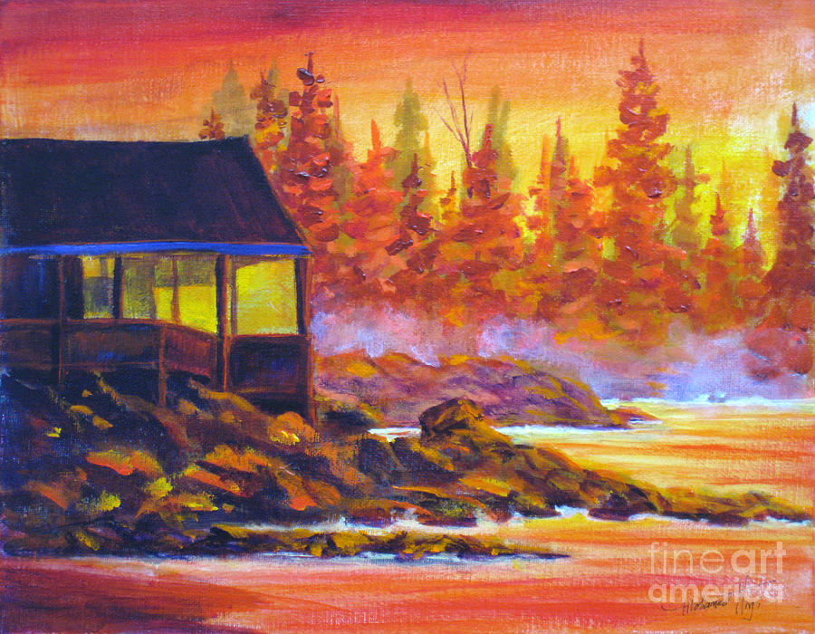 Wickaninnish Inn Painting  - Wickaninnish Inn Fine Art Print