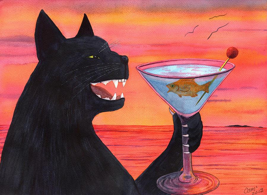 Wicked Kittys Cattini Painting