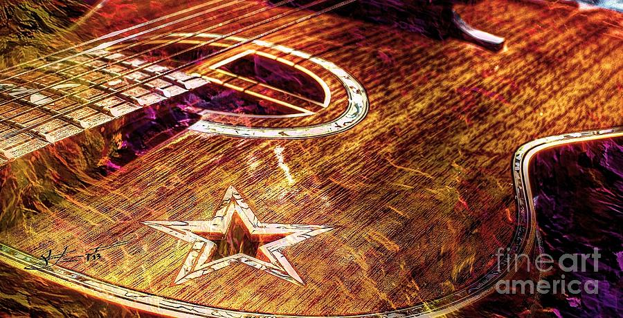 Wicked Music Digital Guitar Art By Steven Langston Photograph
