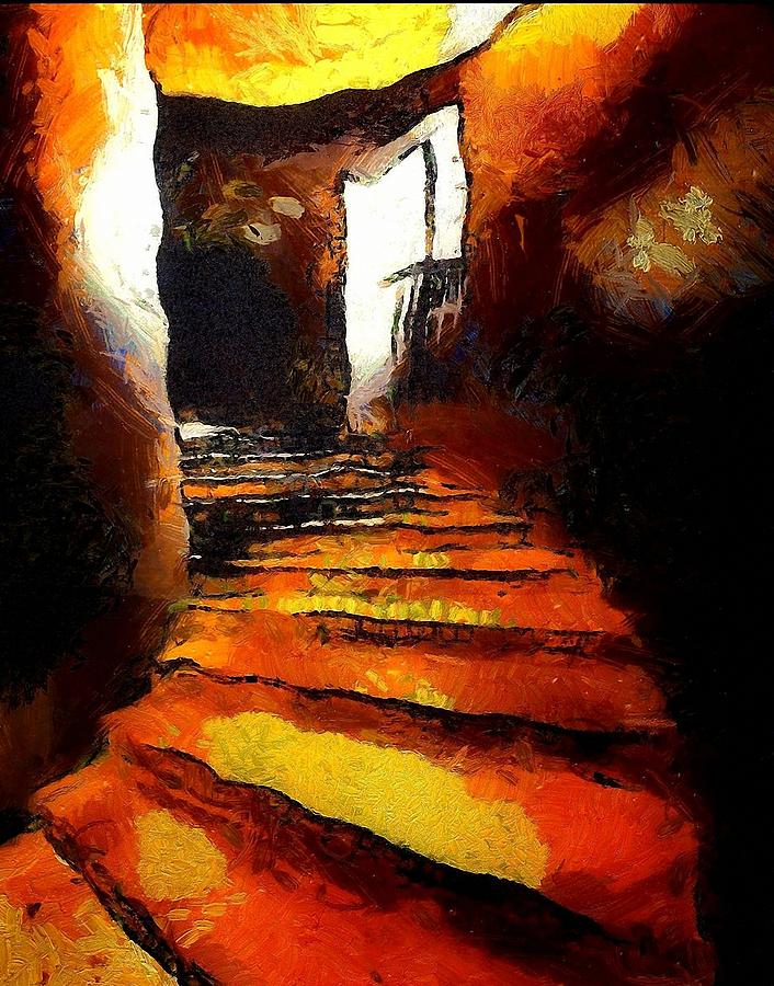 Wicked Stairs Digital Art  - Wicked Stairs Fine Art Print