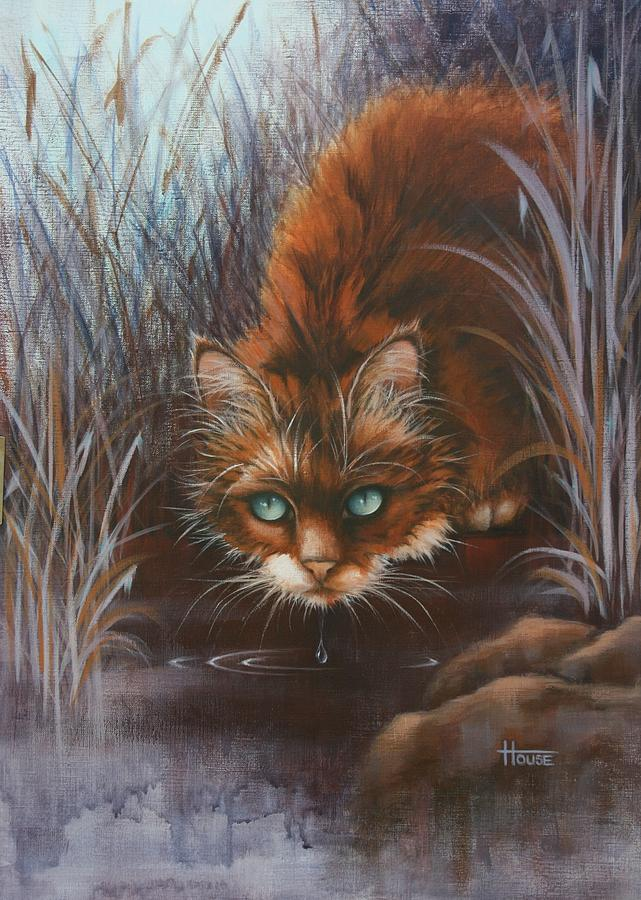 Cats Painting - Wild At Heart by Cynthia House