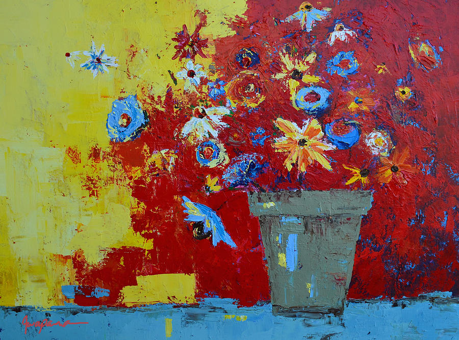 Wild Bunch Flowers Painting