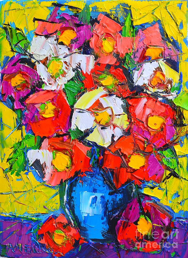 Wild Colorful Flowers Painting