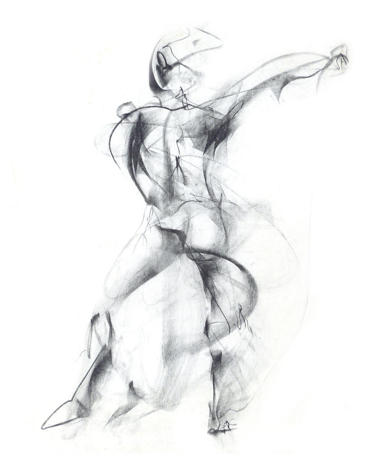 Wild Dancer Drawing  - Wild Dancer Fine Art Print