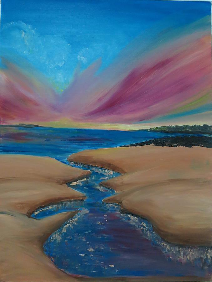 Wild Dune - Original Oil Painting Modern Landscape  Painting