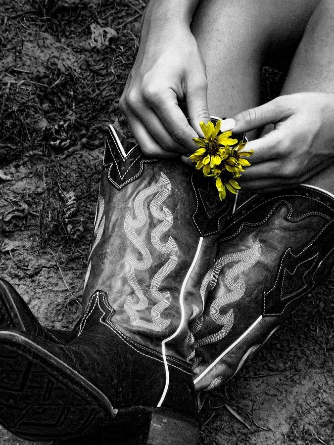 Wild Flower Boots Photograph
