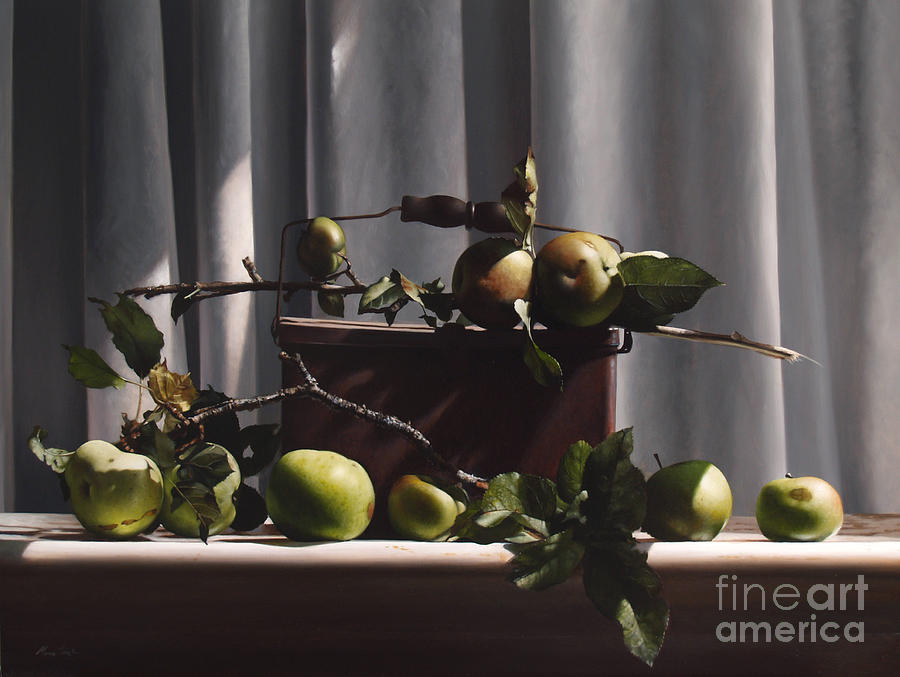 Wild Green Apples Painting
