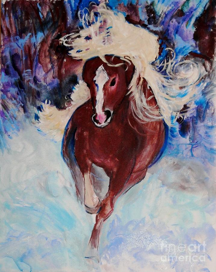 Wild Heart Running Painting  - Wild Heart Running Fine Art Print