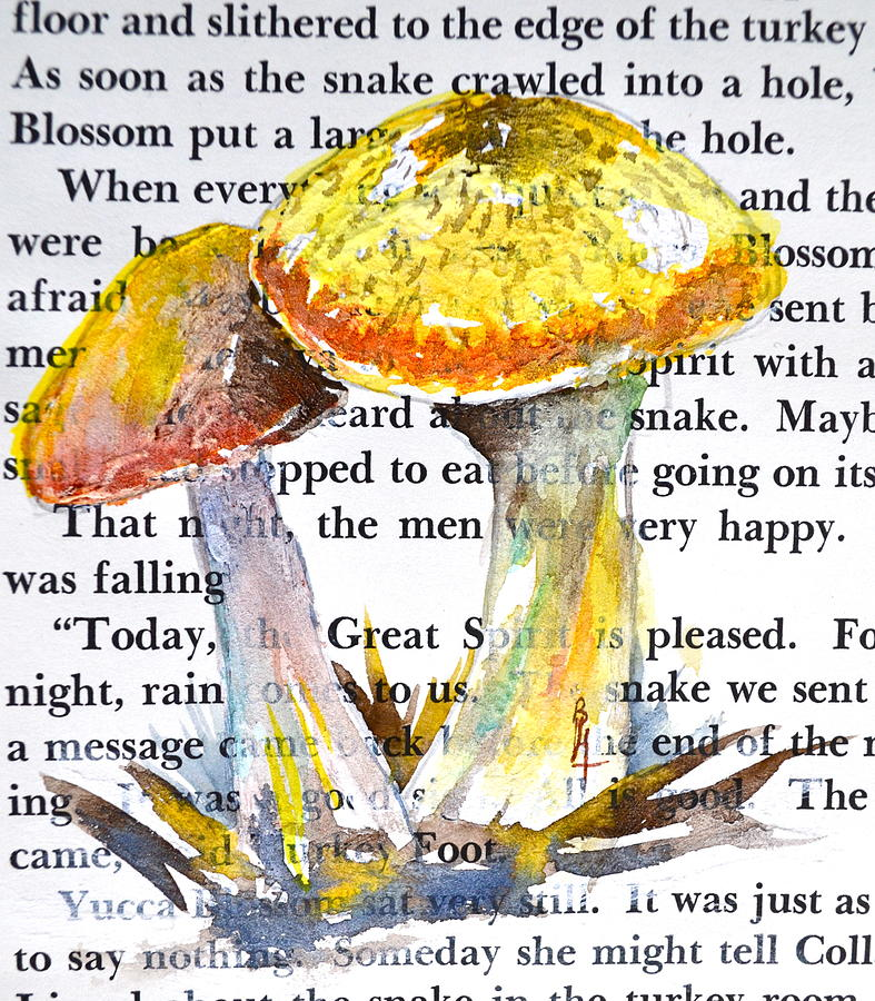 Wild Mushrooms Painting